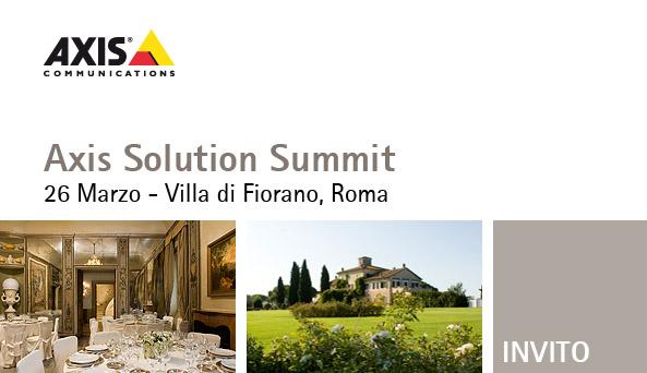 axis solution summit 2009 roma
